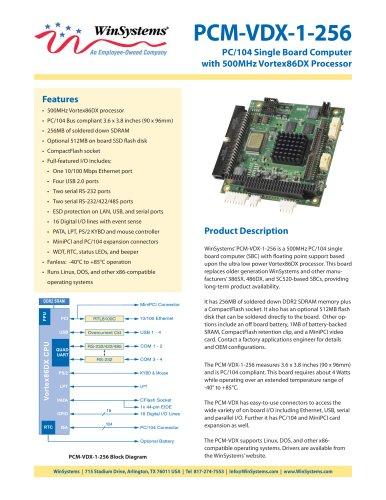 PCM-VDX-1-256-DS