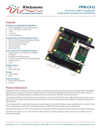 PPM-C412 Datasheet