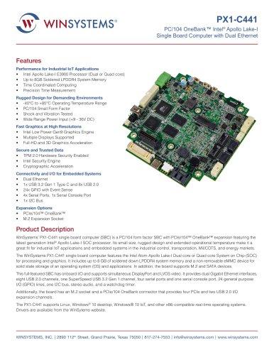 PX1-C441 Datasheet