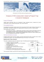 Case Study VOCs analysis in water by Purge&Trap