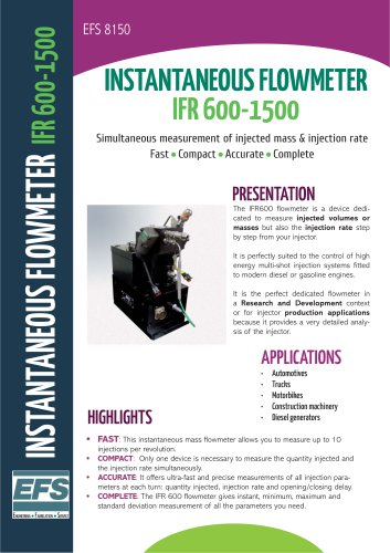 IFR 600 flowmeter