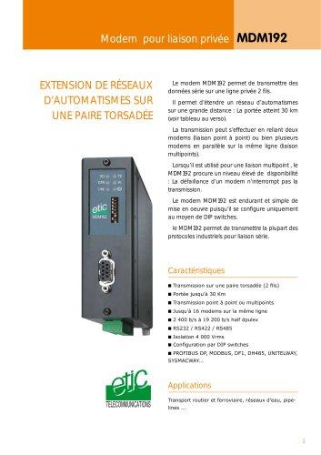 PSTN & LL 33,6 kb/s industrial modem MTI133