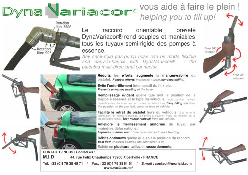DynaVariacor for gas pomp hose
