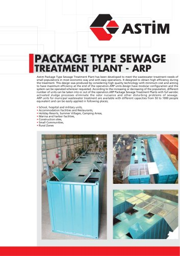 Package Type Treatment Systems