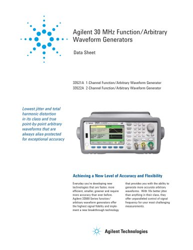 33522A Function / Arbitrary Waveform Generator, 30 MHz