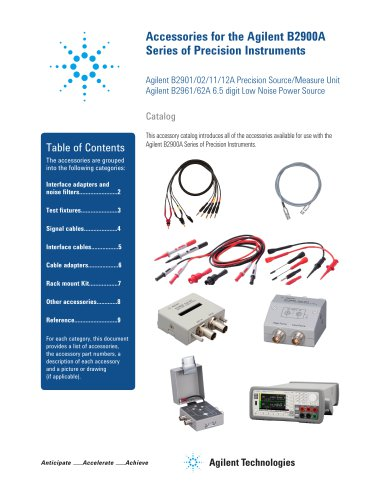 Accessories for Agilent B2900A Series of Precision Instruments