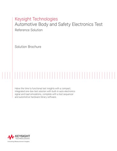 Automotive Body and Safety Electronics Test