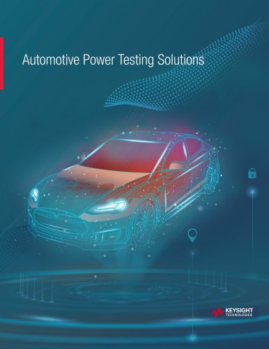 Automotive Power Testing Solutions