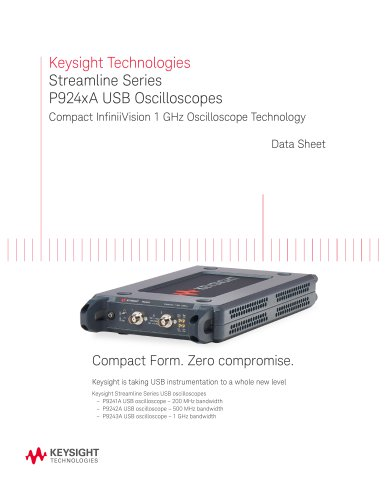 Keysight Streamline Series USB Oscilloscopes