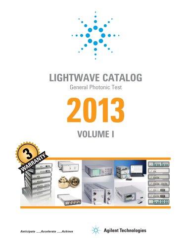 Lightwave Catalog: General Photonic Test 2013 Volume 1