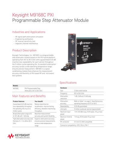 M9168C PXI Programmable Step Attenuator Module