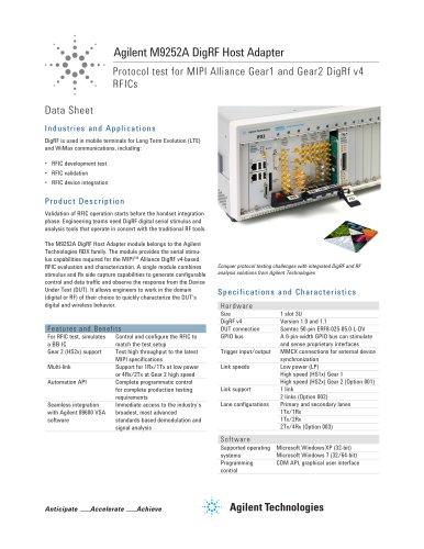 M9252A DigRF Host Adapter