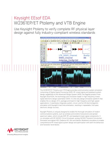 W2361EP/ET Ptolemy and VTB Engine