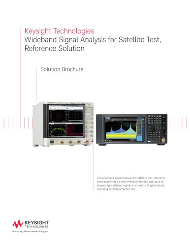 Wideband Signal Analysis for Satellite Test, Reference Solution