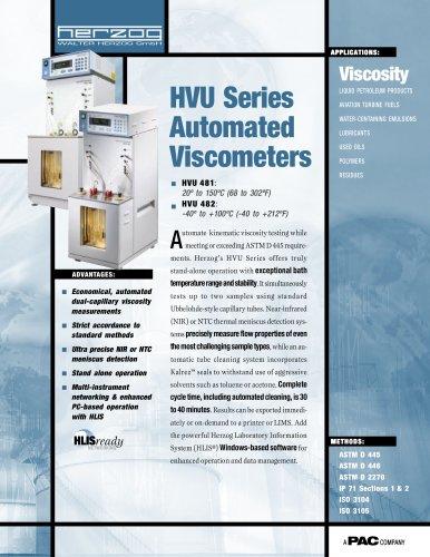 HVU 481 - AUTOMATIC KINEMATIC UBBELOHDE VISCOSIMETER