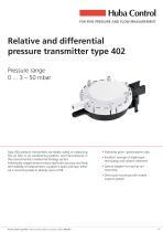 Differential pressure transmitter 402 0 ... 3 - 50 mbar
