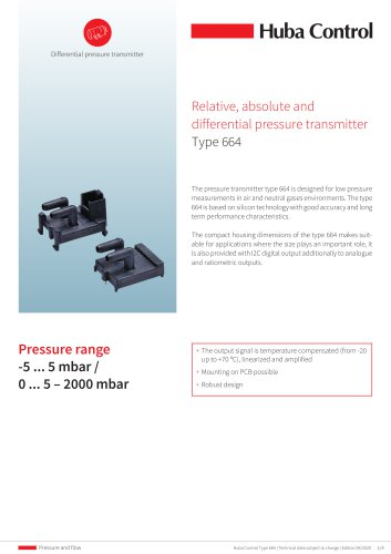 Differential pressure transmitter 664