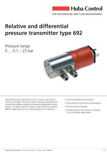 Differential pressure transmitter 692 0 ... 0.1 - 25 bar
