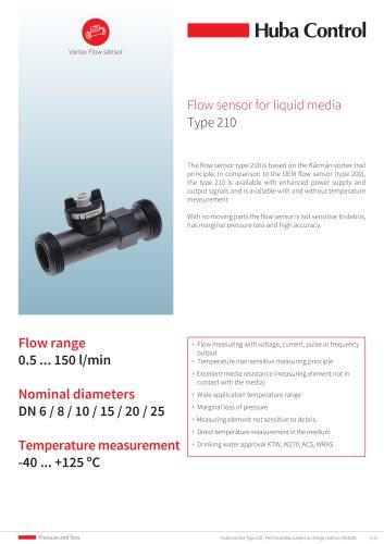 Flow sensor 210 0.5 ... 150 l/min