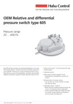 Mechanical Pressure Switch 605 20 ... 400 Pa