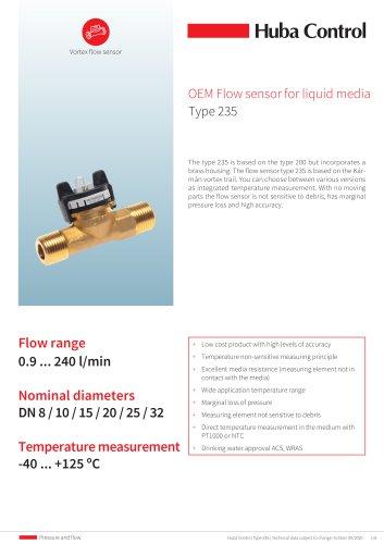 OEM Flow sensor 235 0.9 ... 240 l/min