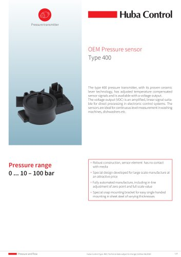 OEM Pressure sensor 400 0 ... 10 - 100 mbar