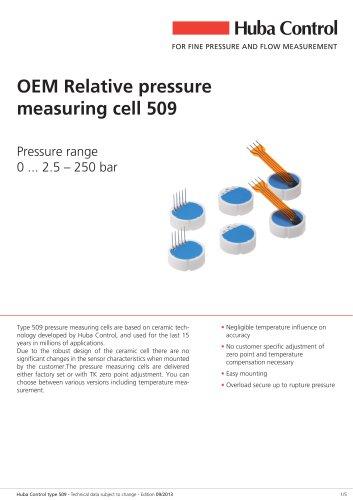 Pressure measuring cell 509 0 ... 2.5 - 250 bar