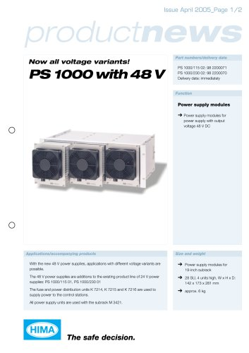 Power supply PS1000