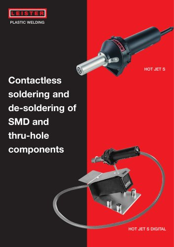 Contactless soldering and de-soldering and SMD thru-hole components