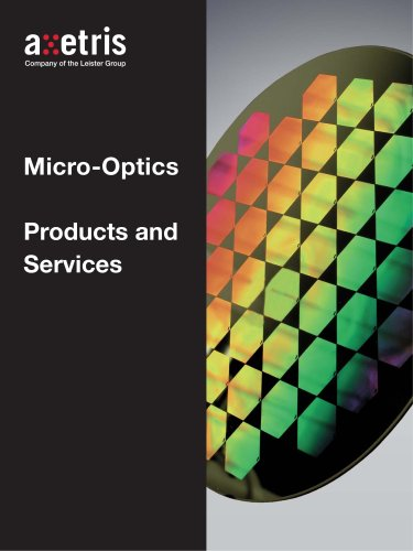 Micro-Optics Products and Services with Axetris