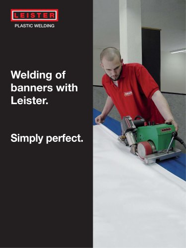 Welding of Banners with Leister