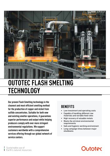 OUTOTEC FLASH SMELTING TECHNOLOGY