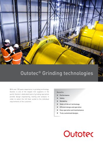 Outotec ®  Grinding technologies