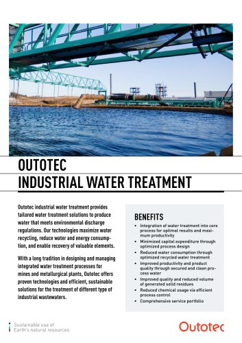 OUTOTEC  INDUSTRIAL WATER TREATMENT
