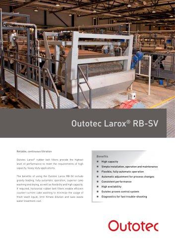 Outotec Larox® RB-SV
