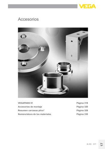 Catálogo de los productos: Accessorios