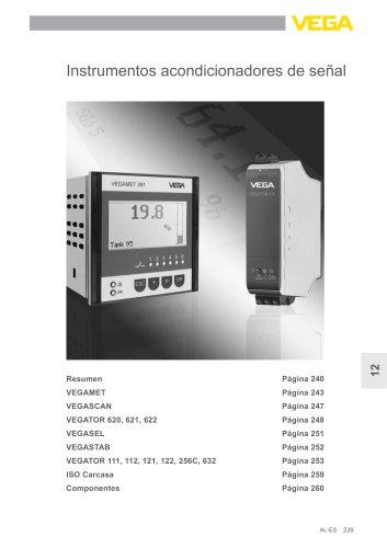 Catálogo de los productos: Analizadores y comunicación VEGAMET, VEGASEL, VEGATOR (Acondicionadores de señal)