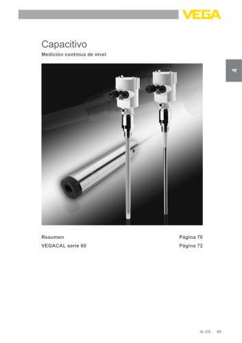 Catálogo de los productos: Capacitivo VEGACAL (Medición de nivel)