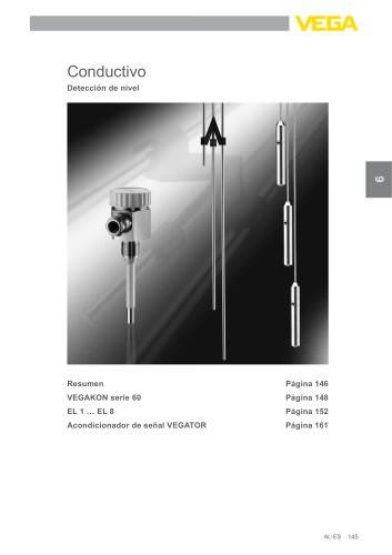 Catálogo de los productos: Conductivo VEGAKON, EL (Interruptores de nivel)