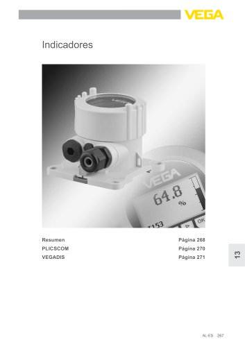 Catálogo de los productos: Indicadores y manejo PLICSCOM, VEGADIS (Acondicionadores de señal)