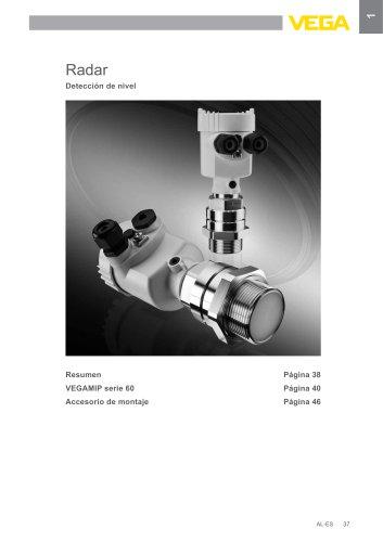 Catálogo de los productos: Radar VEGAMIP (Interruptores de nivel)