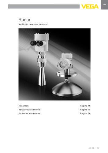 Catálogo de los productos: Radar VEGAPULS (Medición de nivel)