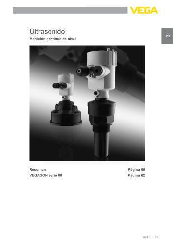 Catálogo de los productos: Ultrasonidos VEGASON (Medición de nivel)