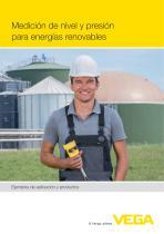 Medición de nivel y presión para energías renovables