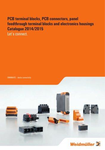 PCB terminal blocks, PCB connectors, panel feedthrough terminal blocks and electronics housings Catalogue 2014/2015