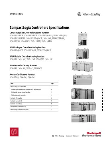 CompactLogix Controllers Specifications