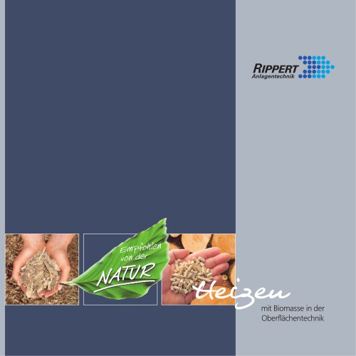Heating with Biomass in surface technology