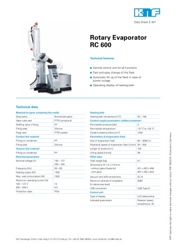 Rotary Evaporator RC 600