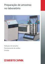 Preparação de amostras no laboratório