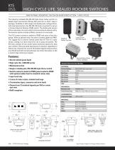 K1S - HIGH CYCLE LIFE, SEALED ROCKER SWITCHES